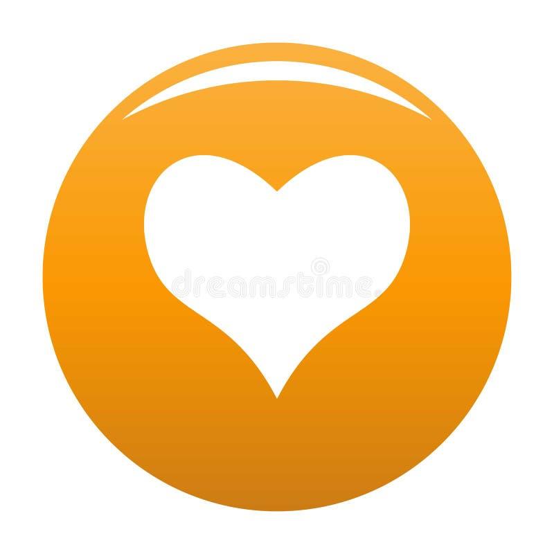 Miła kierowa ikony pomarańcze ilustracji