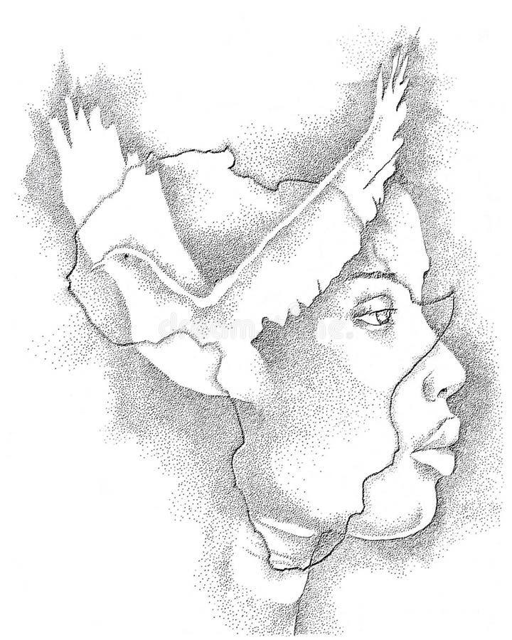 Miłość Afryka royalty ilustracja