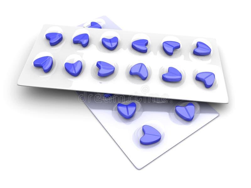 miłość błękitny pigułki ilustracji