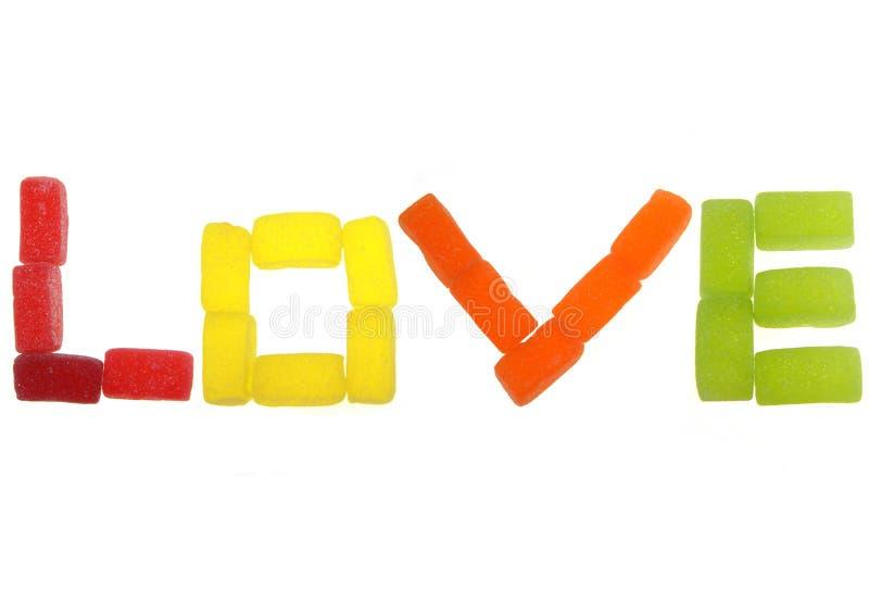 miłość cukierki fotografia stock