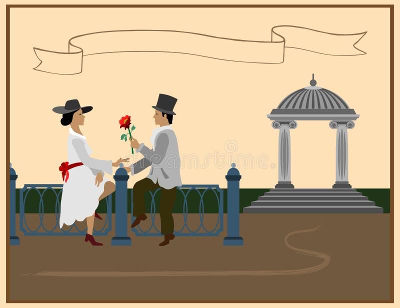 Miłość czasy wcale ilustracja wektor
