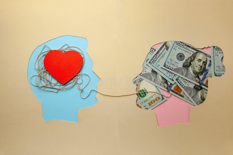 Miłość dla pieniądze Małżeństwo dogodność   zdjęcie royalty free