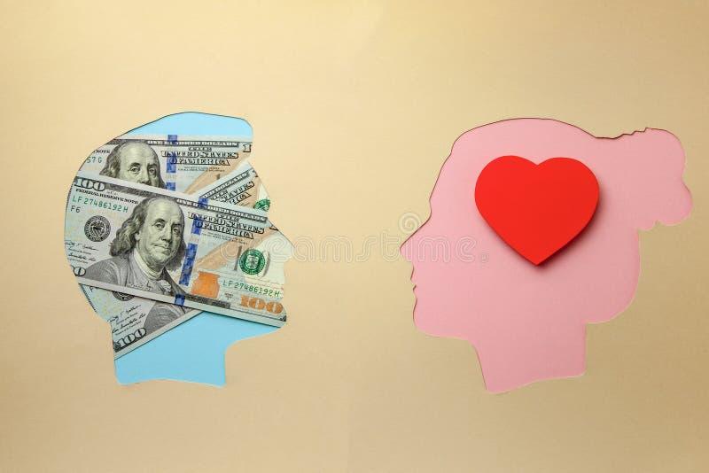 Miłość dla pieniądze Małżeństwo dogodność   fotografia royalty free