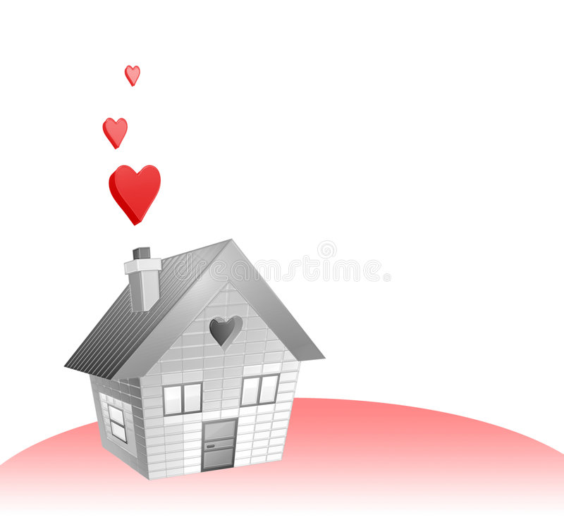 miłość do domu royalty ilustracja
