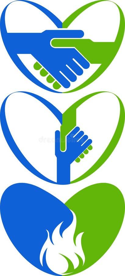 Miłość domowy logo ilustracja wektor