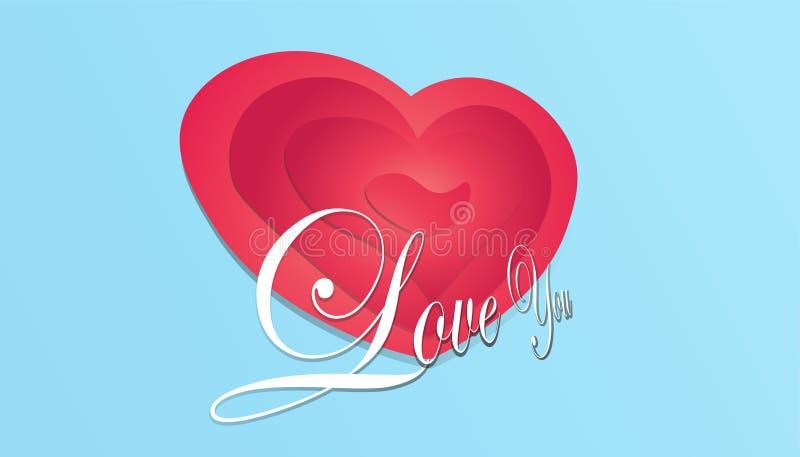 Miłość dzień RGB royalty ilustracja