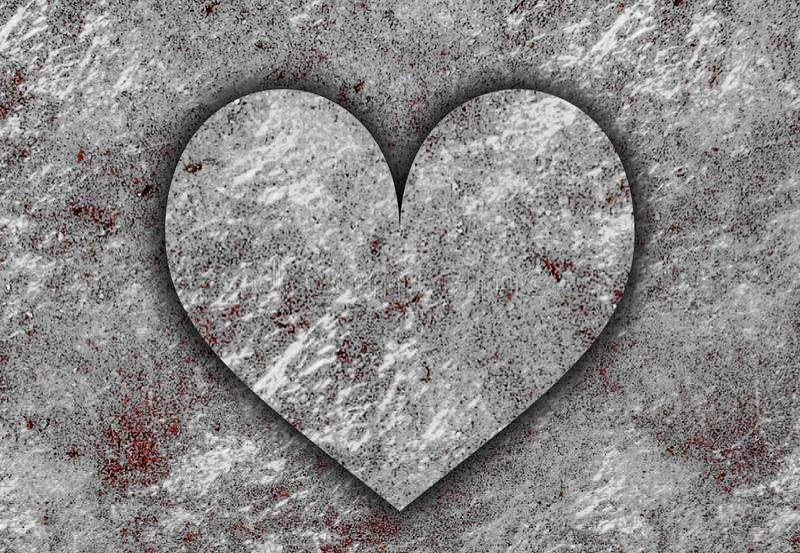 Miłość Heart ShapeTextured Abstract Art Background ilustracja wektor