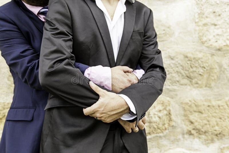 Miłość homoseksualisty ślub obrazy royalty free