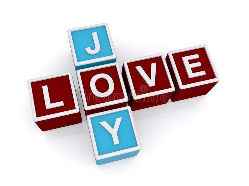 Miłość i radość royalty ilustracja