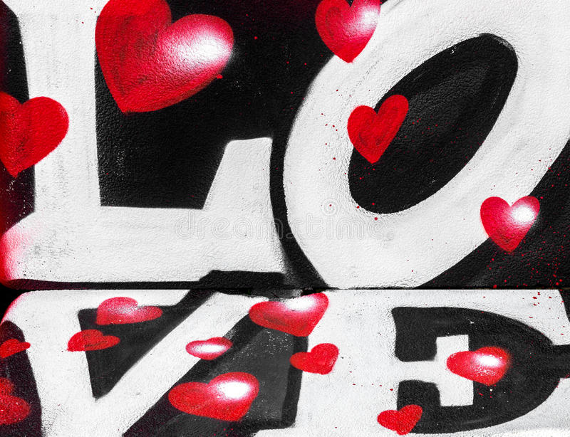 Miłość i serca kiści farba fotografia stock
