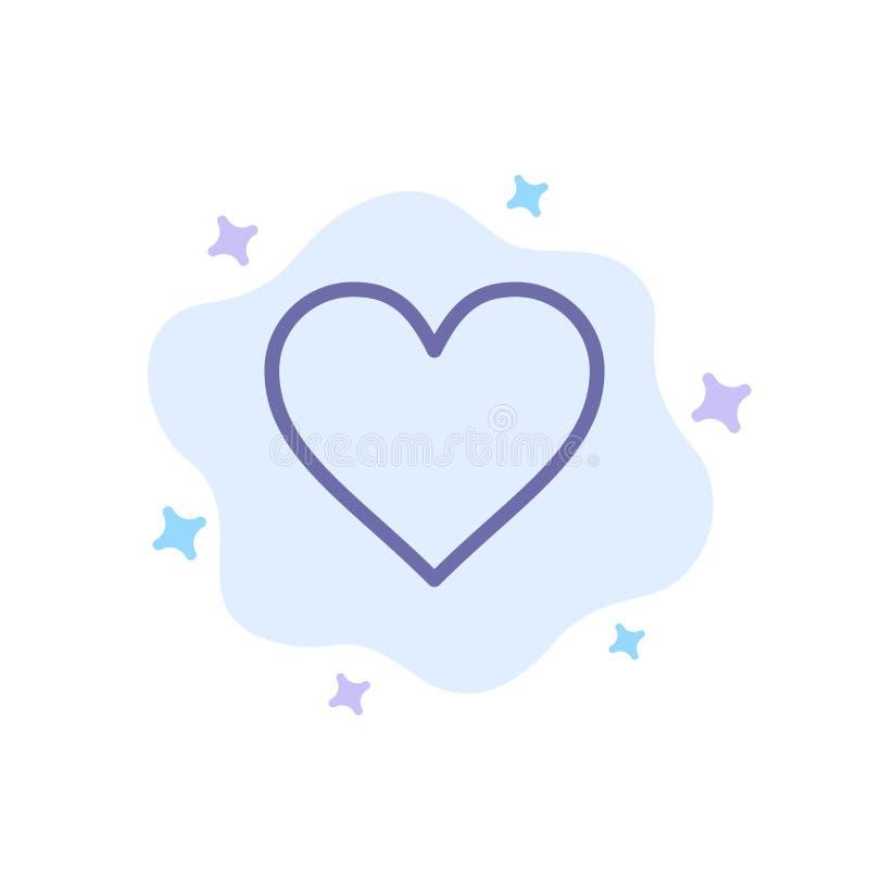 Miłość, Instagram, interfejs, Jak Błękitna ikona na abstrakt chmury tle royalty ilustracja