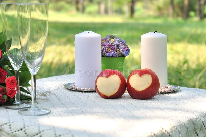 Miłość jabłka pojęcie obrazy stock