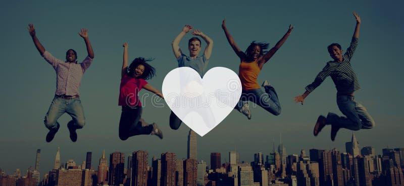 Miłość Jak Pasyjny Romantyczny afekci oddania radości życia pojęcie zdjęcie stock