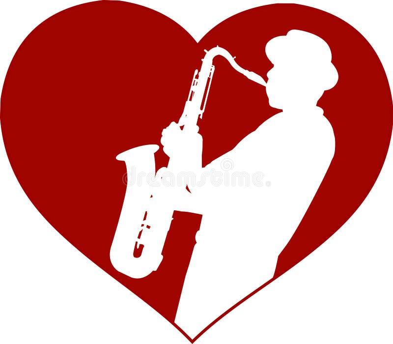 Miłość jazzu pojęcie royalty ilustracja