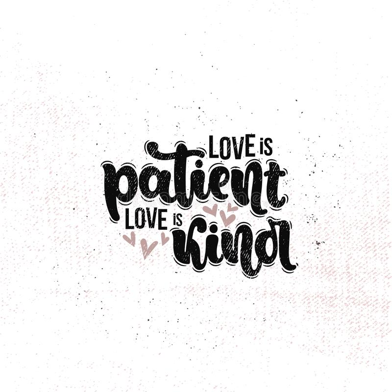 Miłość jest Cierpliwym miłością jest Miła ilustracji
