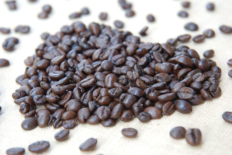 Miłość jest (kawowa fasola) zdjęcie royalty free