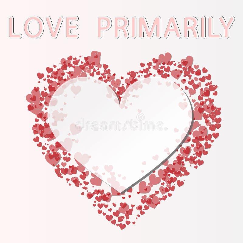 Miłość jest pierwotnie royalty ilustracja