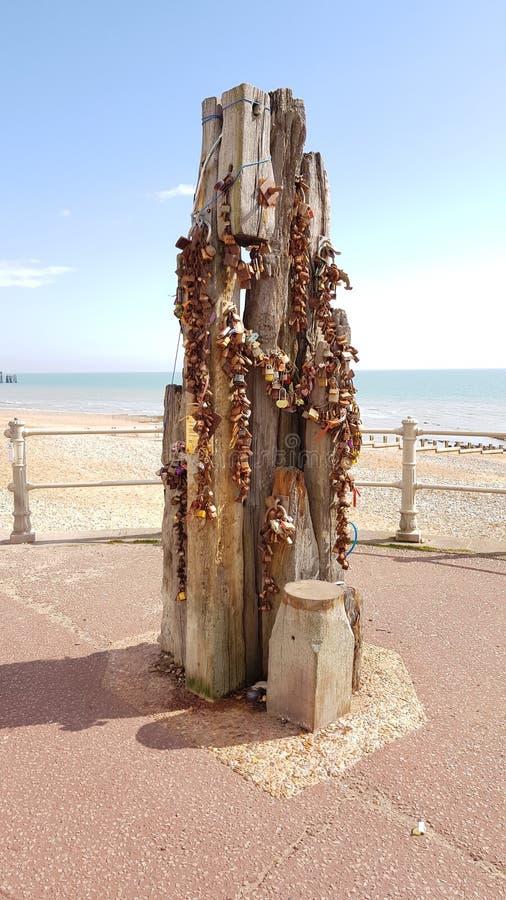 Miłość kędziorki na Hastings deptaku zdjęcia royalty free