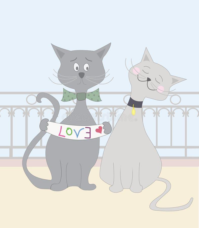 Miłość koty royalty ilustracja