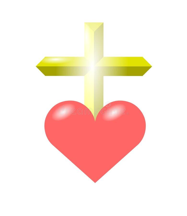 miłość krzyżowa royalty ilustracja