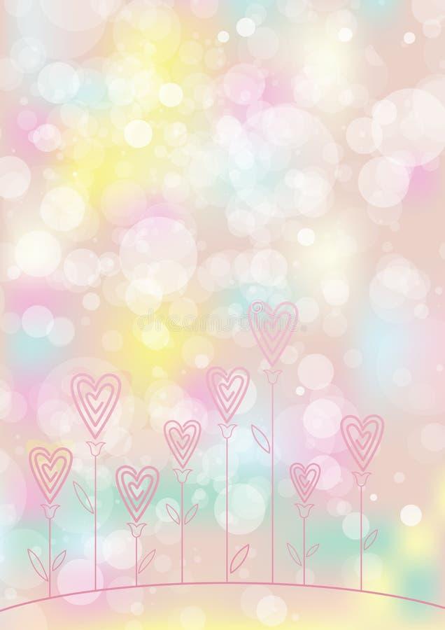 Download Miłość kwiatu tło ilustracja wektor. Ilustracja złożonej z niezrównoważenie - 28959585
