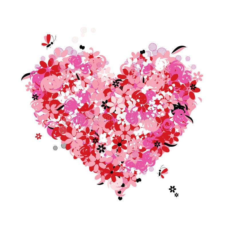 miłość kwiecisty kierowy kształt ilustracji