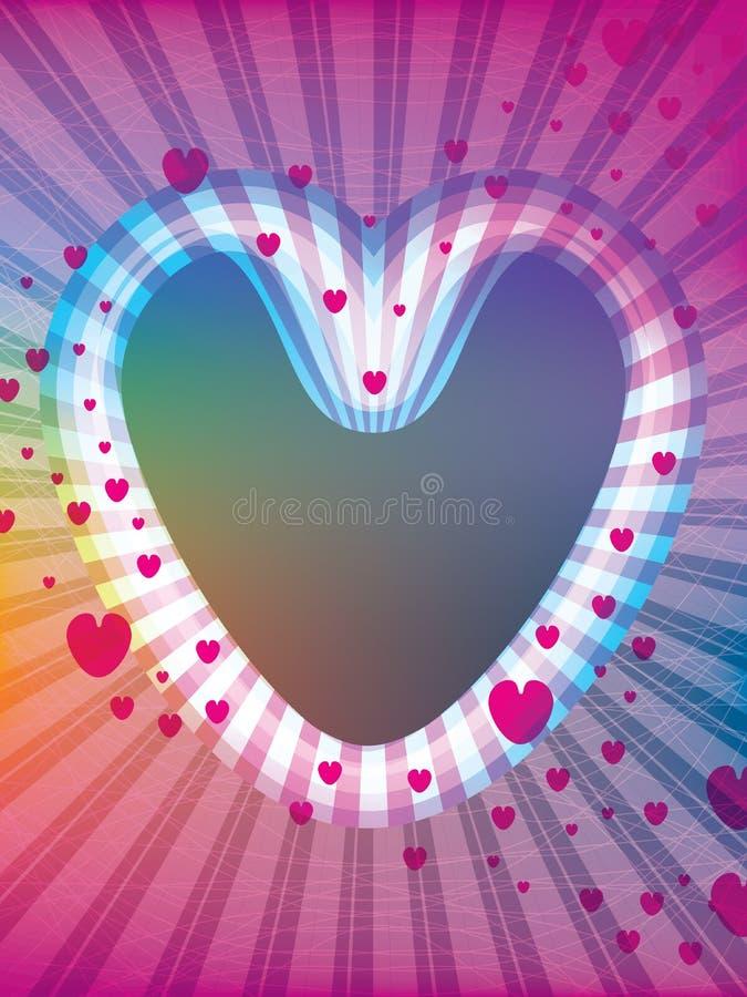 Miłość lampasa ramy tło ilustracji