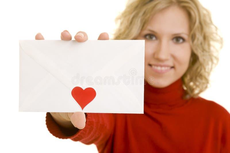 miłość listowy seans obraz stock