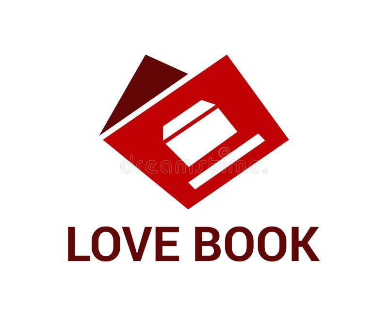 Miłość loga książki projekt ilustracji