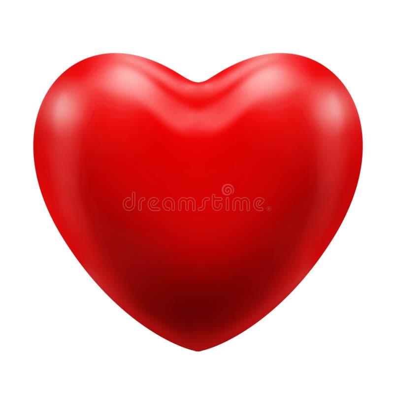 Miłość, matka dzień, valineine dnia ikony symbolu czerwona kierowa grafika z głównymi atrakcjami i cienie, trójwymiarowy podcieni ilustracja wektor