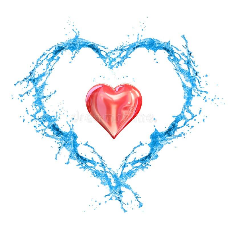 miłość mokra royalty ilustracja