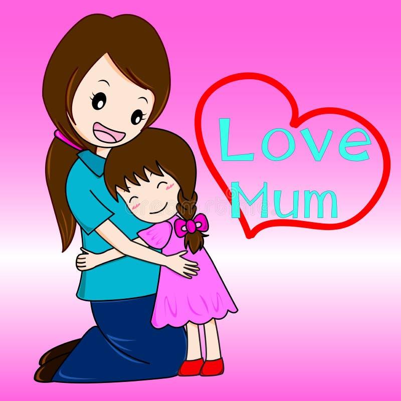 Miłość mum i dziecko ilustracji