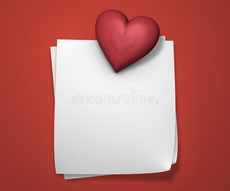 Miłość notatki royalty ilustracja