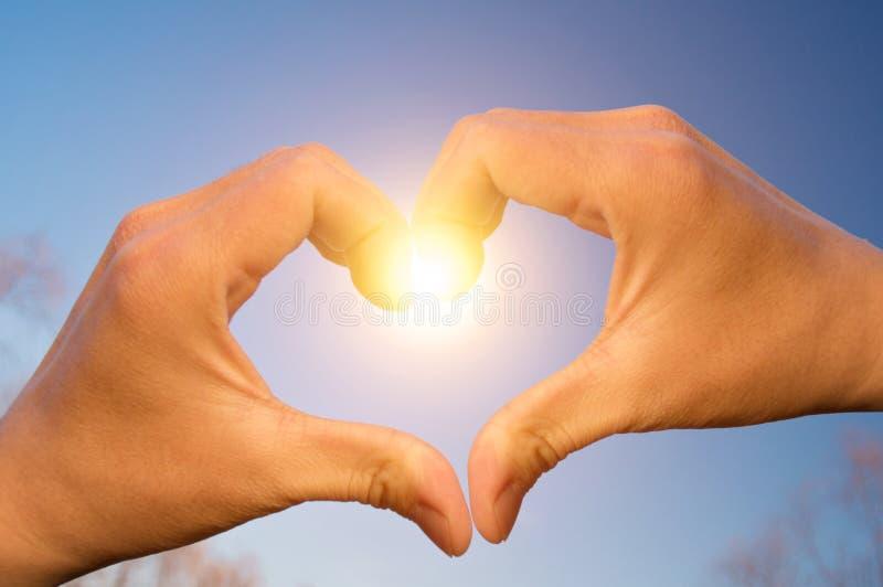Miłość od nieba zdjęcie royalty free