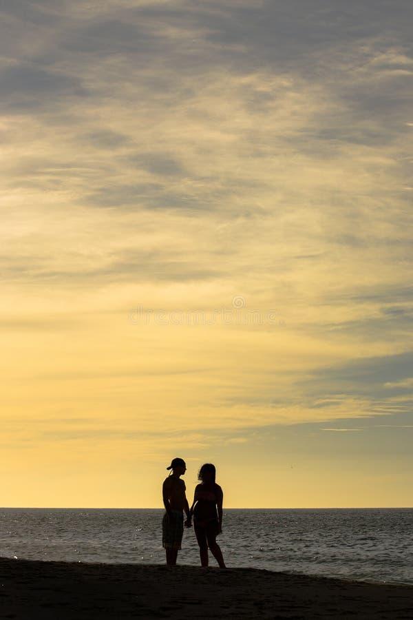 Miłość odbijająca na niebie obraz royalty free