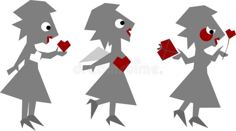 a miłość odizolowana biała kobieta ilustracji