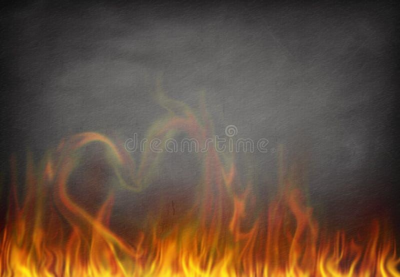 Miłość ogień royalty ilustracja