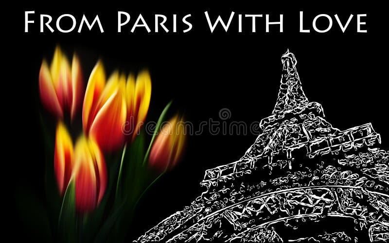 miłość Paris ilustracji