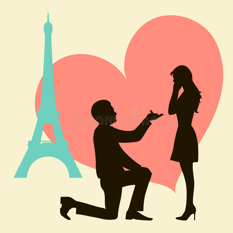 miłość Paris royalty ilustracja