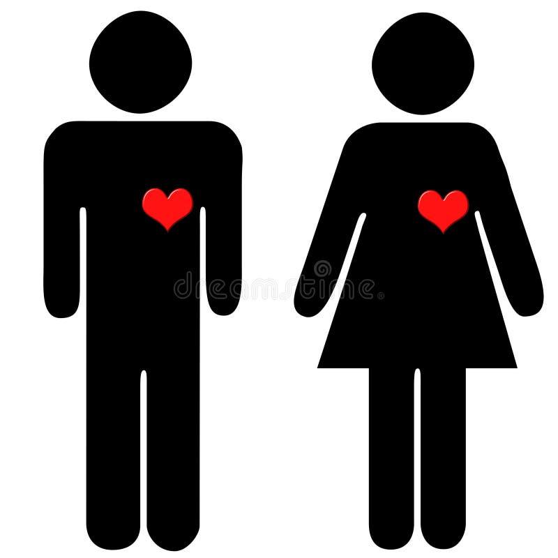miłość pary ilustracji
