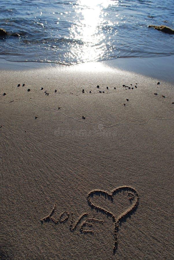 Download Miłość piasek obraz stock. Obraz złożonej z morze, miłość - 13330197