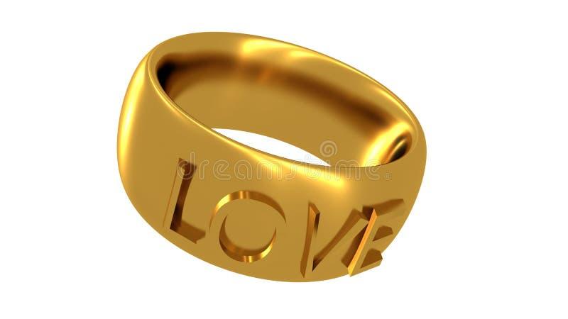 Miłość pierścionek royalty ilustracja