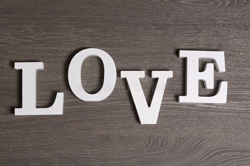 Miłość, pisać w listach, odgórny widok zdjęcia stock