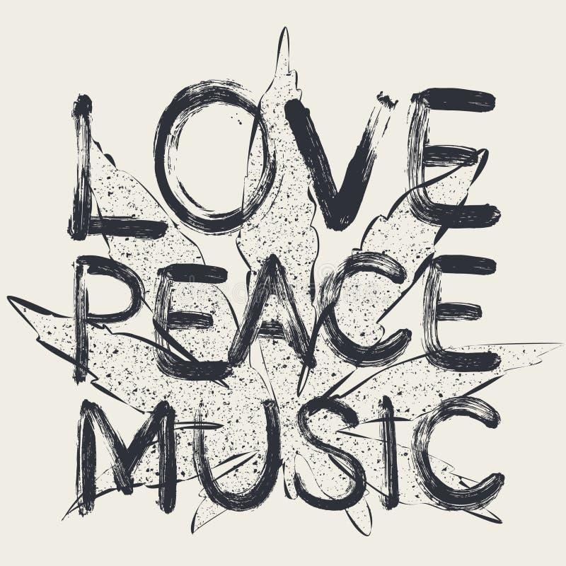 Miłość - pokój - muzyka obraz royalty free