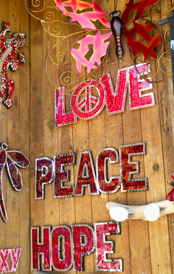 Miłość, pokój nadzieja zdjęcie royalty free