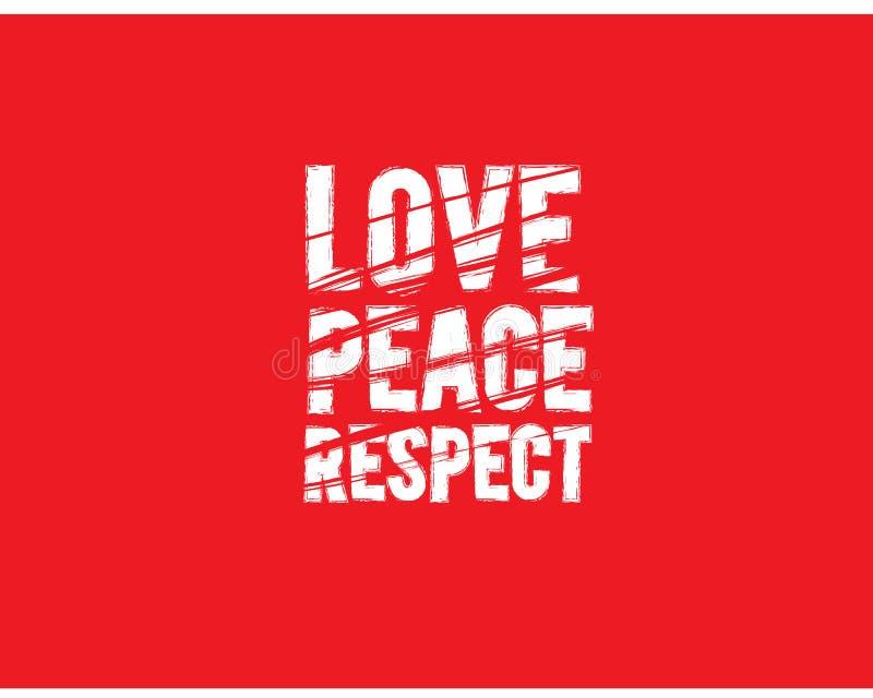 Miłość pokoju szacuneku ikona ilustracji