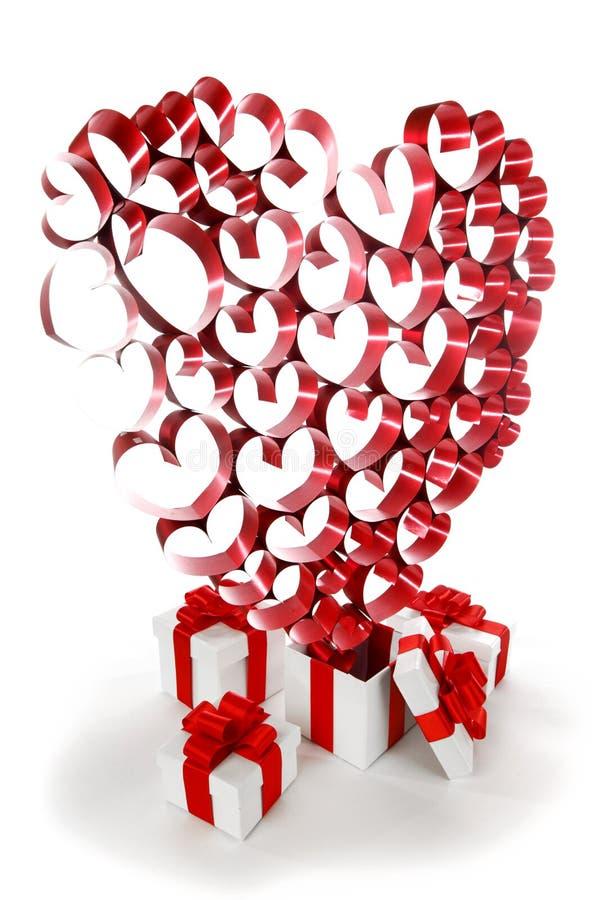 Miłość prezenty obrazy stock