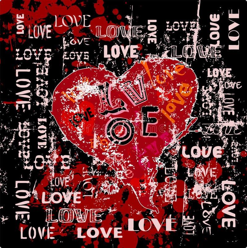 Miłość projekt ilustracji