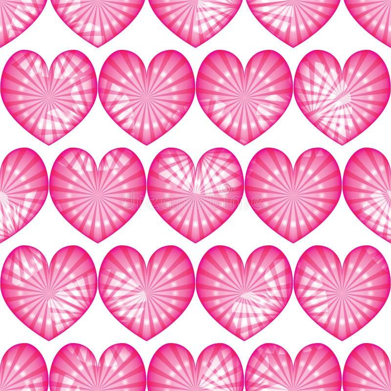 Miłość promienia kropki różowej symetrii bezszwowy skutek CMYK ilustracji