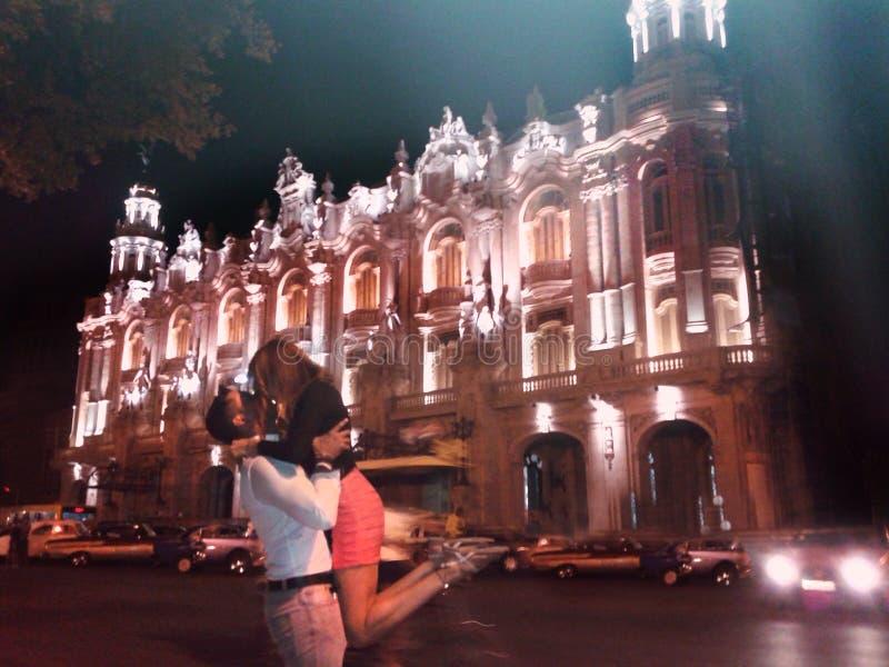 Miłość przy nocą zdjęcie royalty free